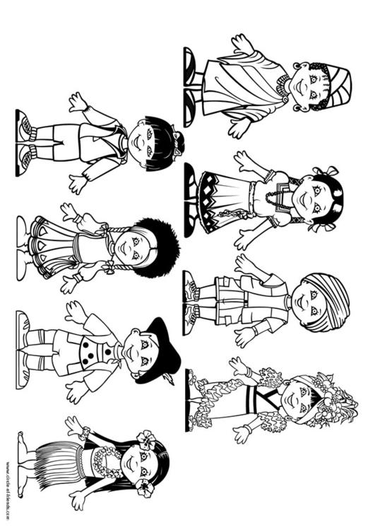 Coloring page children of the world img 9281 for Children of the world coloring pages