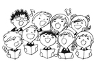 Coloring pages children's choir