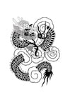 Coloring pages Chinese dragon