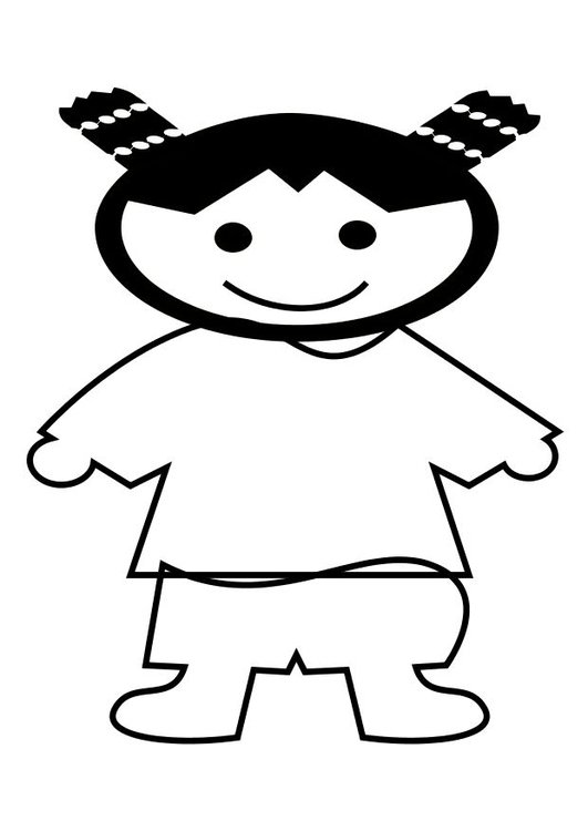 Coloring page chinese girl