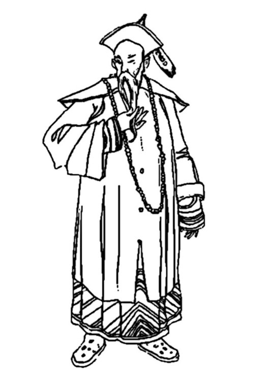 Coloring page chinese man
