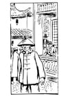 Coloring page Chinese