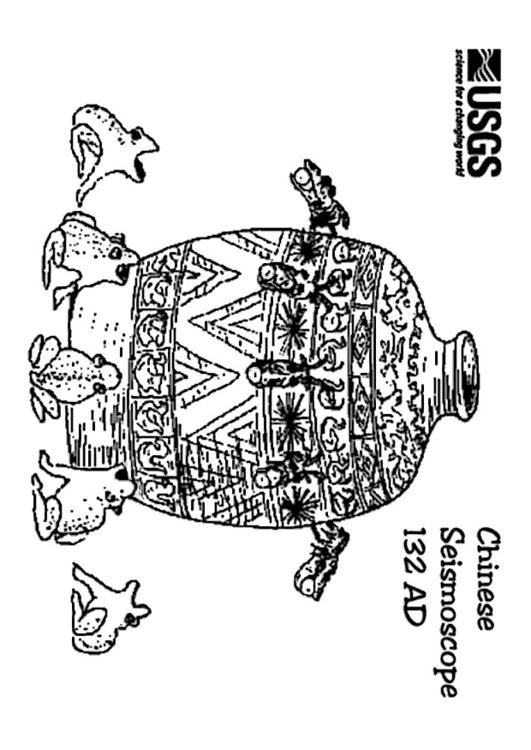 Chinese seismoscope 132 AD