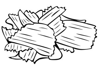 Coloring page chips