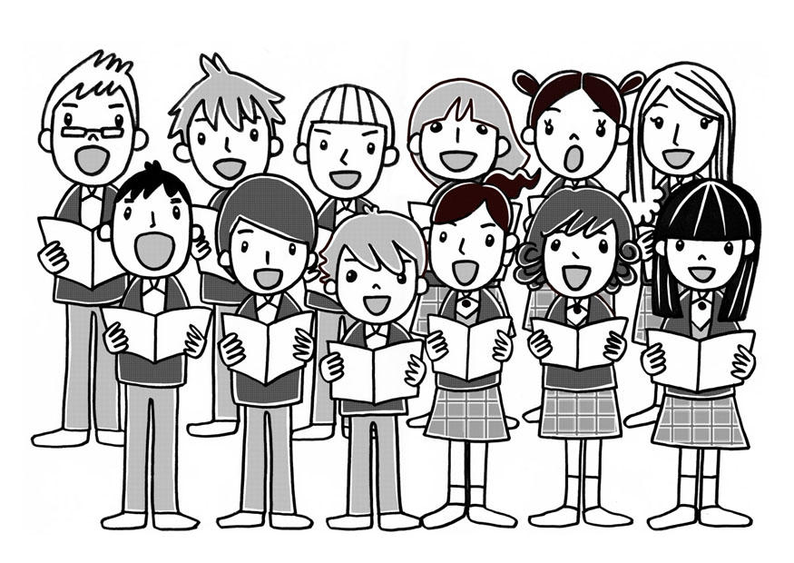 free church choir coloring pages - photo#16