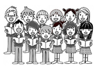 Coloring pages choir