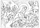 Coloring pages Christ is born