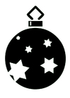 Coloring page Christmas Bauble