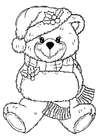 Coloring pages christmas bear