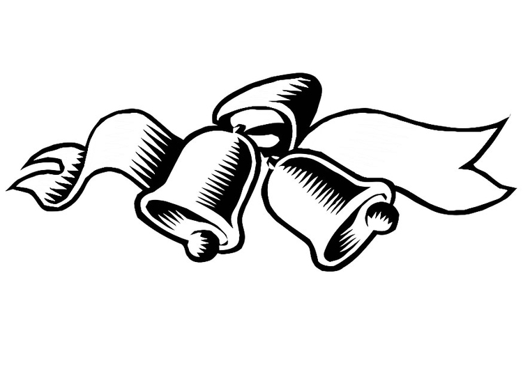 Coloring page christmas bells