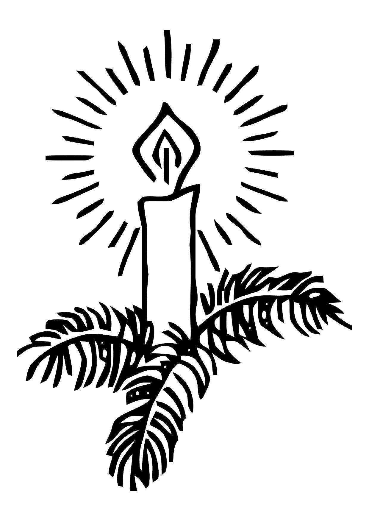 coloring page christmas candle img 11335 images. Black Bedroom Furniture Sets. Home Design Ideas