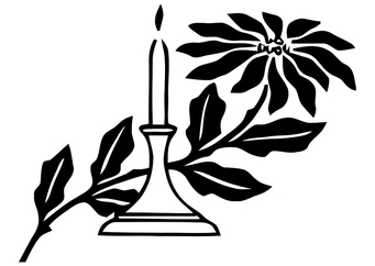 Coloring page christmas candle
