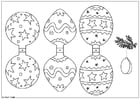 Coloring page Christmas decoration