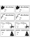 Coloring page christmas gift cards