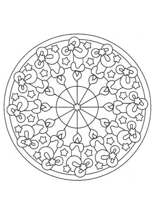 Christmas Mandala Coloring Pages Gallery Free Printable Coloring ... | 750x531