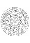 Coloring page christmas mandala