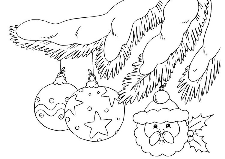 Coloring page christmas ornaments