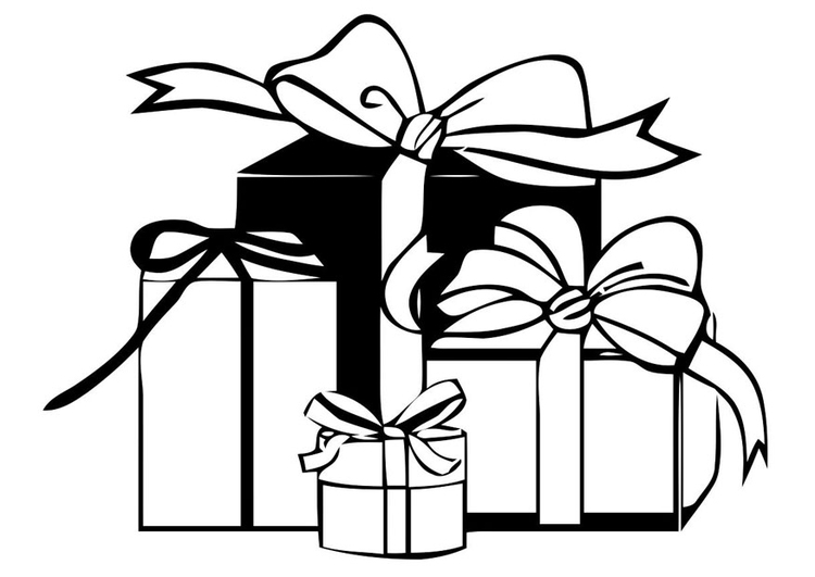 Coloring page christmas presents