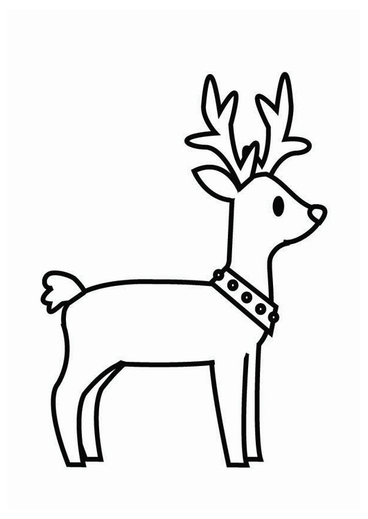 Coloring page Christmas reindeer