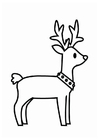 Coloring pages Christmas reindeer