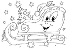 Coloring pages christmas sled