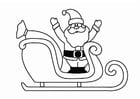 Coloring pages Christmas Sleigh