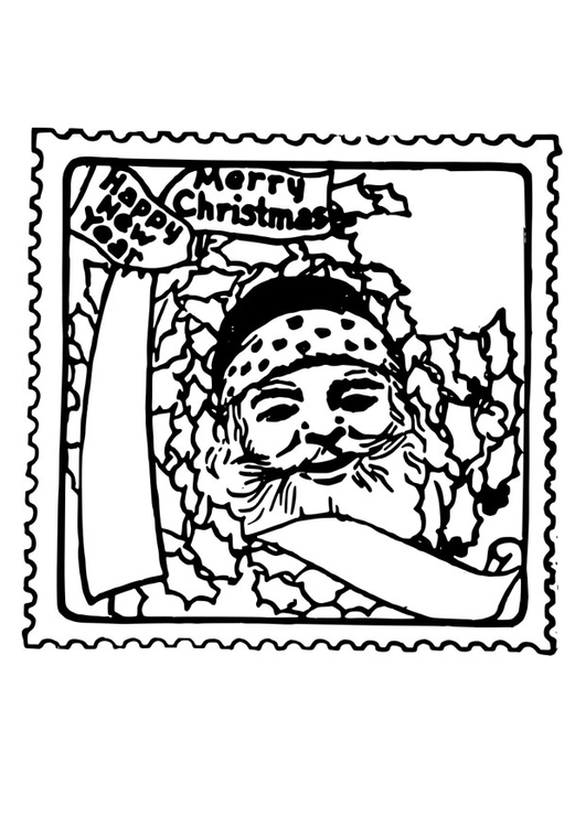 Coloring page christmas stamp