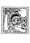 Coloring pages christmas stamp