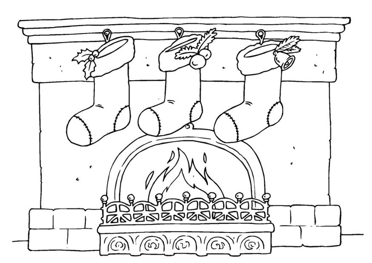 Coloring page christmas stockings