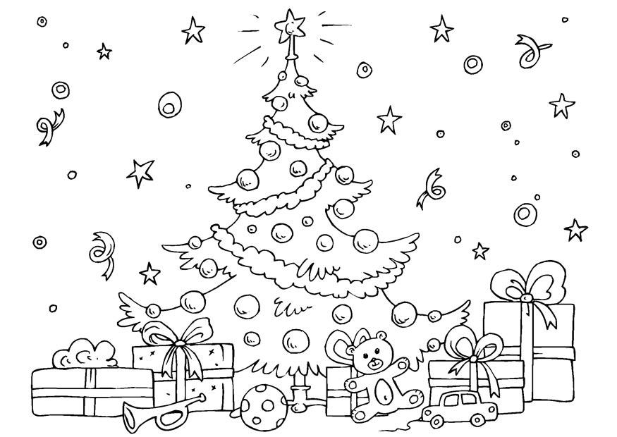 download large image - Christmas Tree Color Page