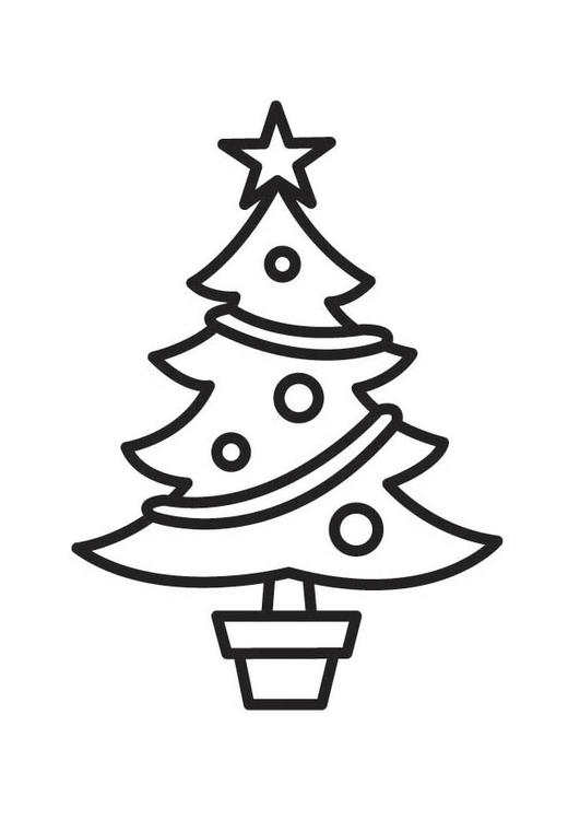 Coloring Page Christmas Tree