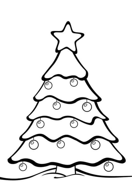 Coloring page Christmas tree - img 28163.