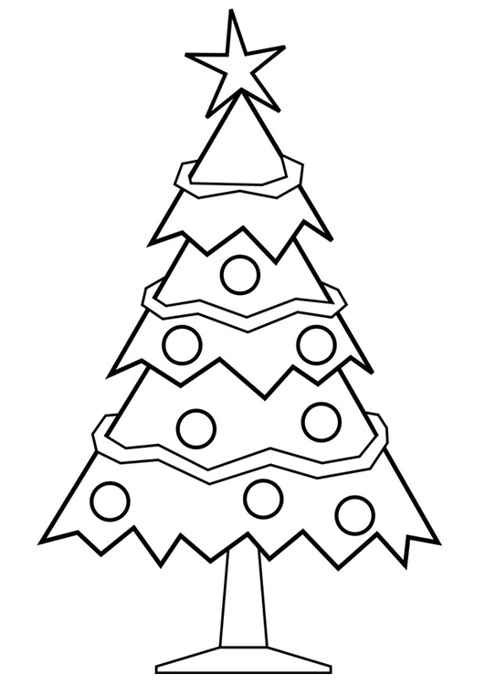 Coloring Page Christmas Tree Free Printable Coloring Pages