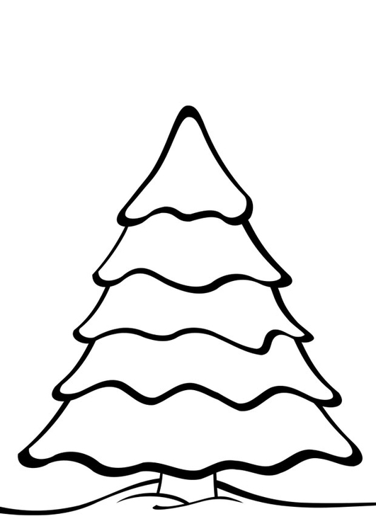 Coloring page Christmas tree