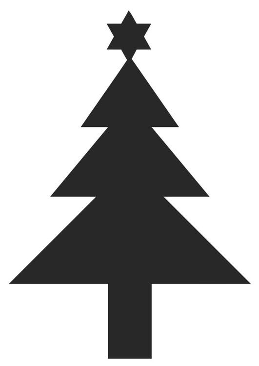 Coloring page christmas tree with star