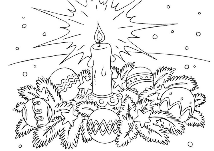 Coloring Page Christmas Wreath