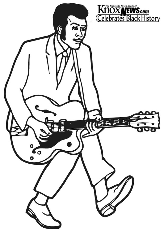 Coloring page Chuck Berry