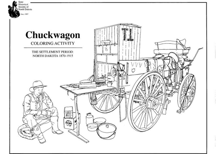 Coloring page chuckwagon