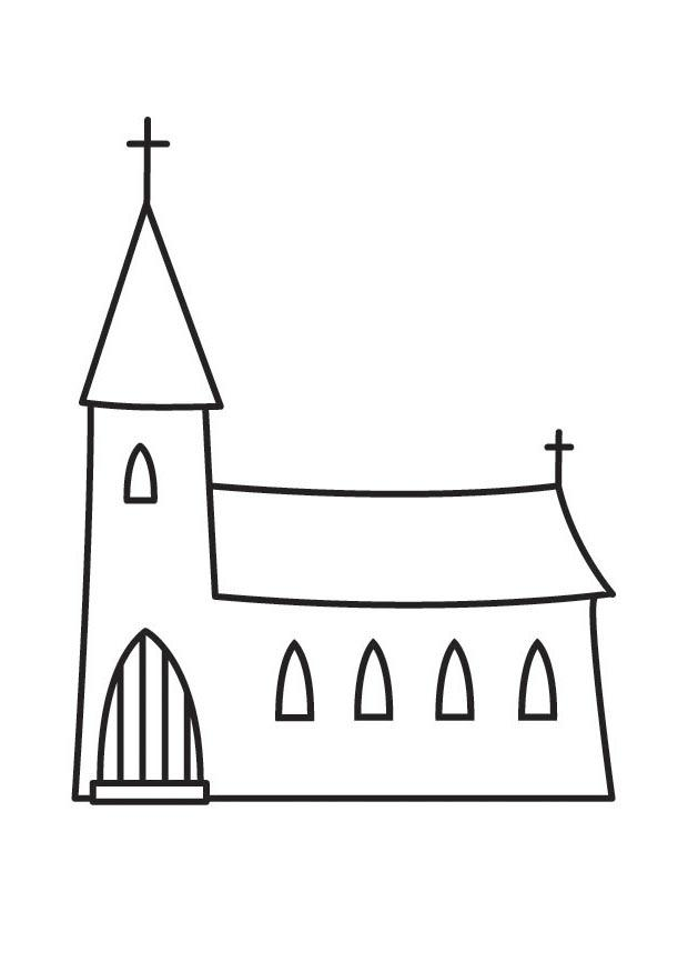 Coloring page church - img 23136.
