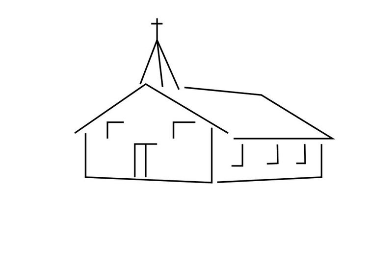 Coloring page church img 10112