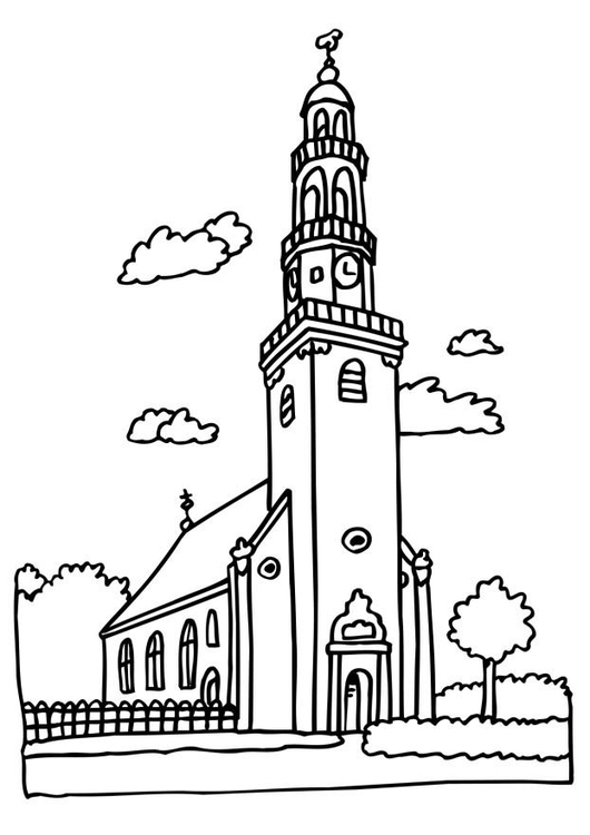 Church Coloring Page - Free Religions Coloring Pages ... | 750x530