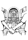 Coloring pages church wedding