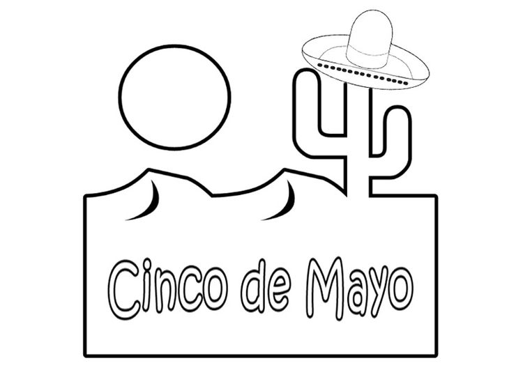 Coloring page Cinco de mayo