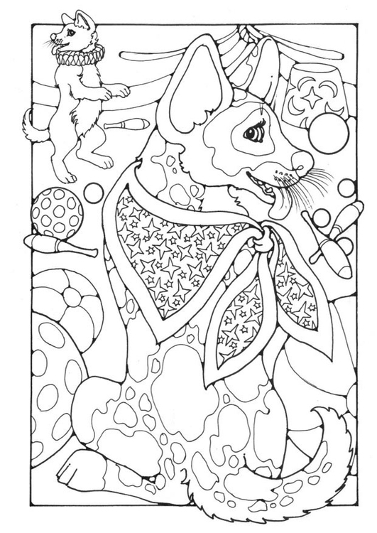 Coloring page circus