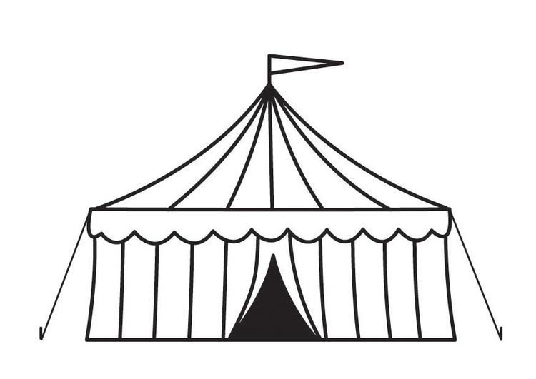 Circus Tent Is Open At Circus And Carnival Coloring Pages : Bulk Color | 531x750