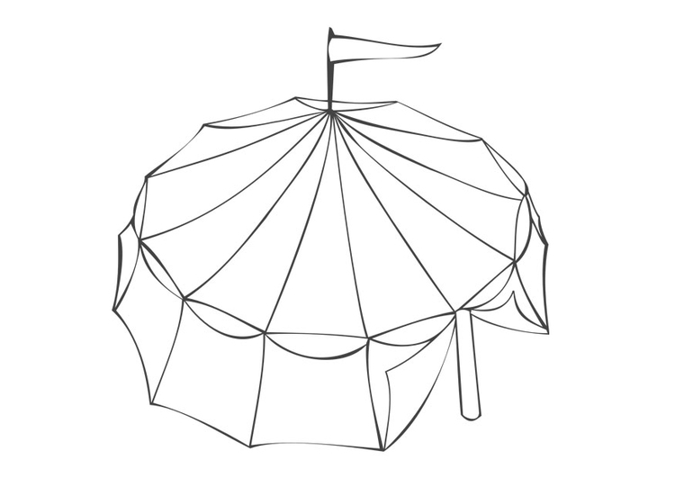 Coloring page circus tent  img 28852