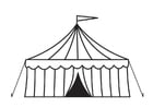 Coloring pages circus tent