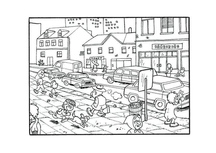 Coloring page city