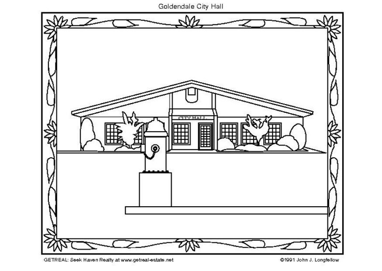 Coloring page city hall