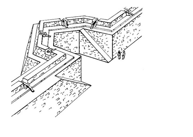 Coloring page city wall - stronghold